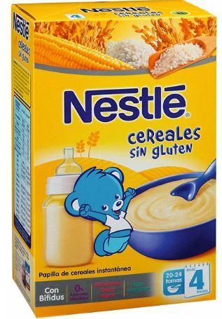 Cereales para bebes sin gluten