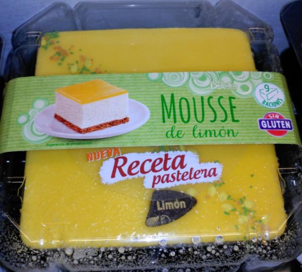 Tarta sin gluten de mousse de limón