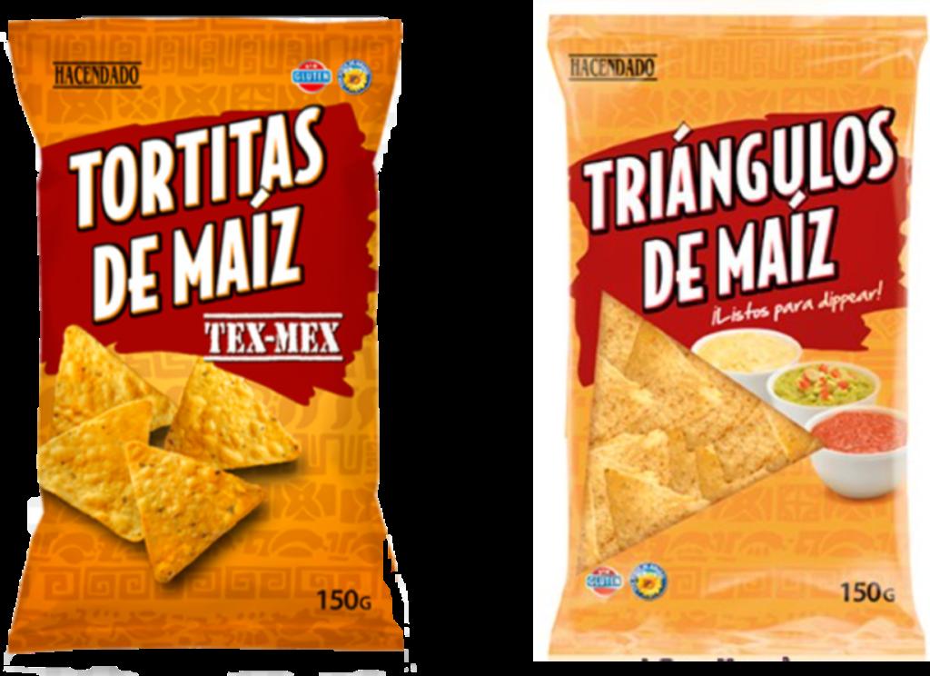 Triángulos de maíz sin gluten